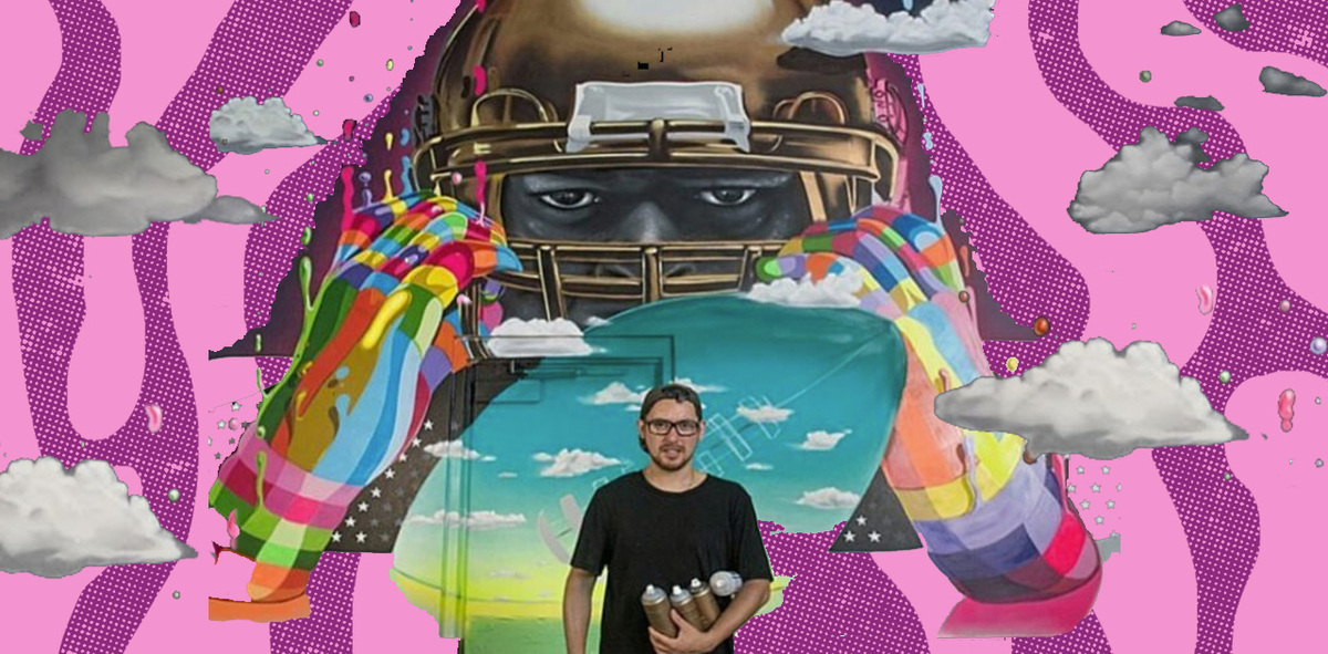 Meet Dasic Fernández, a Chilean Artist Commissioned to Create a Stunning Mural for the Super Bowl