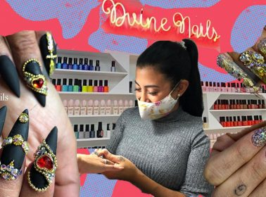 Meet the Peruvian Manicurist Behind Karol G & Rosalía's Blingy Acrylic Sets