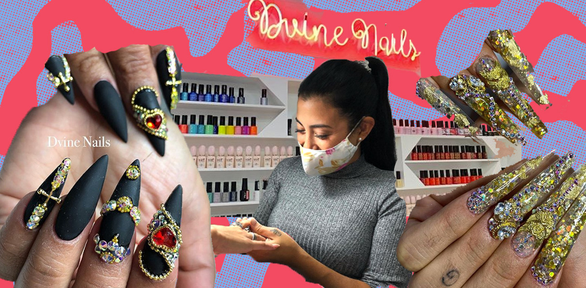 Meet the Peruvian Manicurist Behind Karol G & Rosalía's Blingy Acrylic Sets