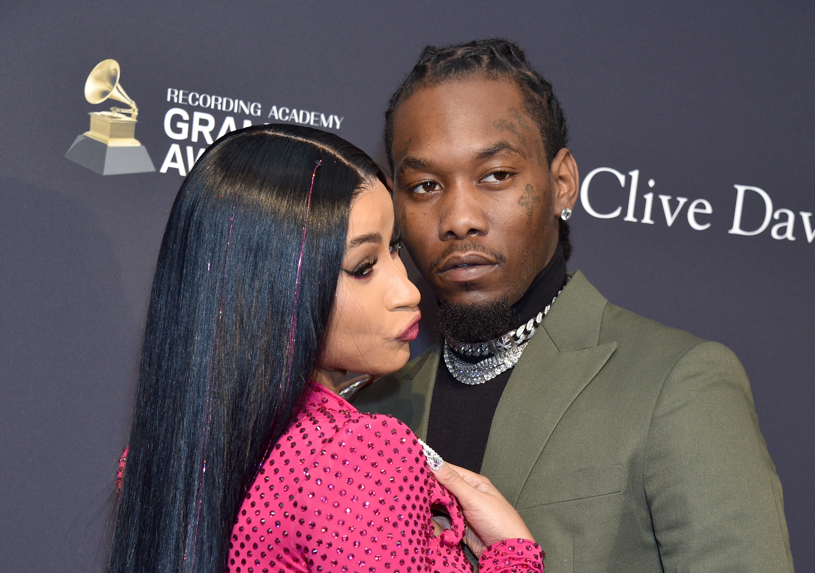 Offset Lands Flying Falcon Punch at Man who Sprayed Cardi B With Champagne