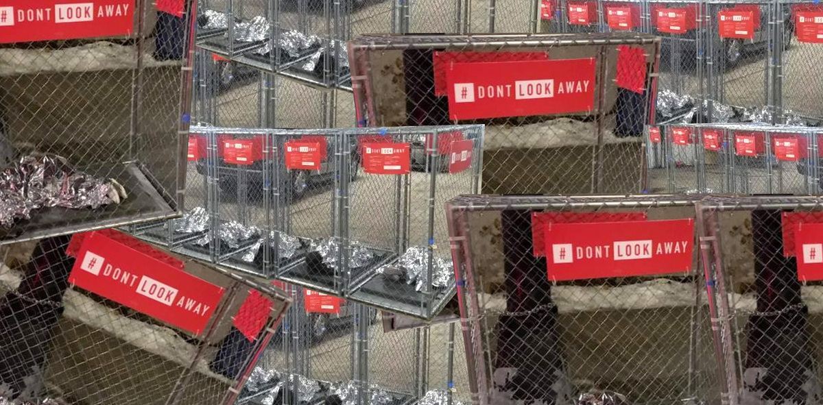 """Activists Place """"Kids in Cages"""" Installation Throughout Des Moines Amid Iowa Caucus"""