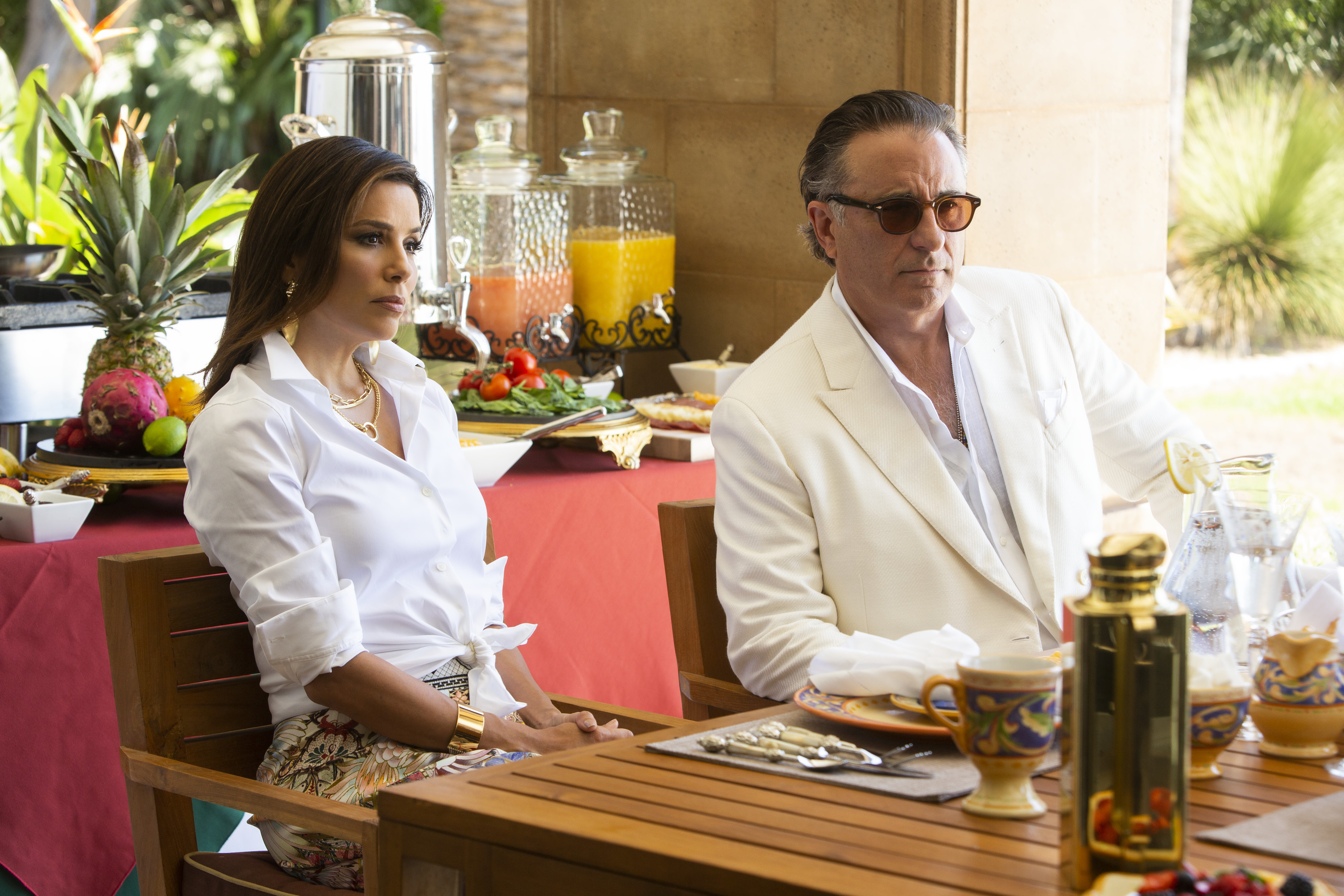 Eva Longoria & Andy García on Playing a High-Powered Cartel Couple in New Quibi Show 'Flipped'