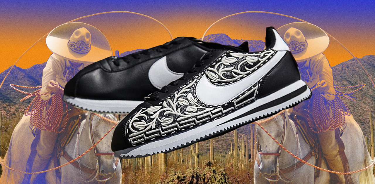 Charro Culture & Mariachi Inspired This Cool Nike Cortez Mockup